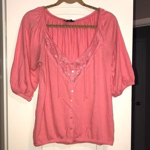 Lace & Buttons Top